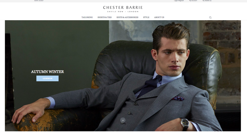 Chester Barrie launches new E-Commerce Website